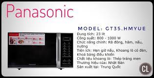 Lò Vi Sóng Panasonic NN-GT35HMYUE 23L - Trắng Đen - NN-GT35HMYUE, giá siêu  rẻ 2,660,000đ! Mua liền tay!