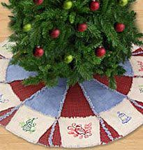 Rag quilt tree skirt | Christmas | Pinterest | Rag quilt, Tree ... & Rag quilt tree skirt | Christmas | Pinterest | Rag quilt, Tree skirts and  Craft Adamdwight.com