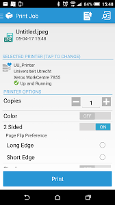 you can change settings from black white to color the number of prints with or without staples and choose between landscape or portrait