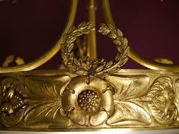 Sac A Perle Wunderschöne Antike Bronze Goldbronze Lampe
