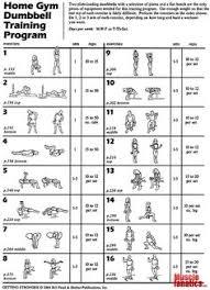 home gym dumbbell program