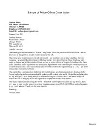 Police Cover Letters Gallery Cover Letter Sample Throughout Cover
