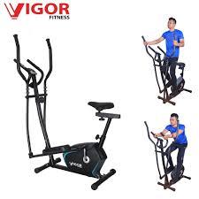 2 in 1 elliptical bike cross trainer with seat