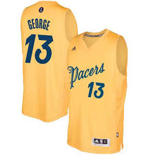 13 2016-2017 George Gold Day Nba Jersey Christmas Paul Pacers Stitched