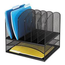 Desk Organizer Safco Mesh Desk Organizer Eight Sections Steel 13 1 2 X 11 3 8