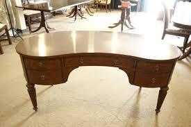 antique home office desk. HIgh End Mahgoany Kidney Shaped Desk Antique Home Office