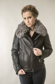 black fur coat for women with natural lambswool and polar fox fur