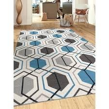 blue geometric rugs contemporary blue geometric stripe non slip skid area rug 5 in rugs decor blue geometric rugs