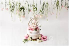 Fresh Flower Cake Smash Orange County Newborn Photographer