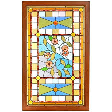 aesthetic stained glass landing window for victorian reclaimed door panels id f