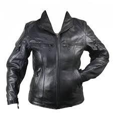 retro custom motorcycle black cowhide leather jacket