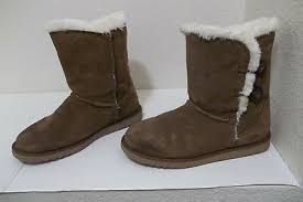 Mossimo Target Womens Shearling Suede Faux Fur Boots Shoes