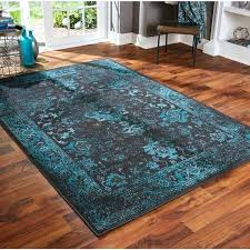 teal and black area rug distressed traditional multiple pertaining to ideas white rugs gray yellow