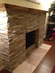 stack stone fireplace remodel modern living room