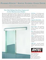 pharma vision single slide glass high performance glass door 1 1 pages