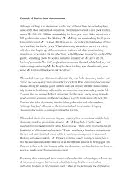 Interview Summary Template Cover Letter Examples Of Interview Essays Examples Of Manager 8