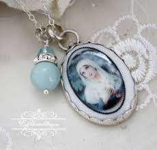 home broken china jewelry more pendants necklaces french virgin mary ite crystals pendant necklace
