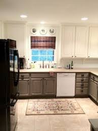 D Licieux Painted Kitchen Cabinets Two Colors Tone Color