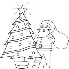 Small Picture Download Coloring Pages Santa Coloring Page Santa Coloring Page