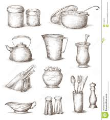 Drawing Of Cooking Utensils ClipartXtras