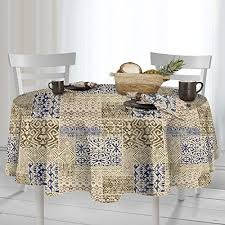 casual living by newbridge kalahari indoor outdoor polyester table linens 70 inch round tablecloth natural