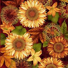 Aubergine Sunflower Fabric Yardage. Welcome Harvest Henry Glass ... & Aubergine Sunflower Fabric Yardage. Welcome Harvest Henry Glass. Fall Fabric.  Fall Floral Fabric. Holiday Fabric. Fall Floral Quilt Fabric. Adamdwight.com