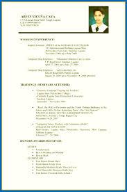 Sample Resume For Highschool Graduate Resume Form Philippines Resume Examples Philippines Sample Resume 27