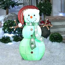 led snowman outdoor lights figures lawn decorations to make large