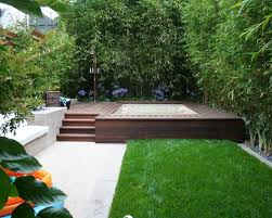 Small Picture small garden design ideas bamboo jacuzzi wooden deck contemporary