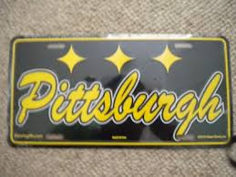 Bar amp; Pittsburgh Room Cursive New Steelers - Plate License Home Plate Decor Steelers Ebay Game … Dream Metal