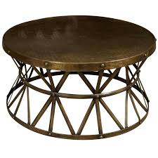 round industrial coffee table 1stdibs a round metal coffee table living with style round industrial coffee