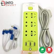 Ổ Cắm Điện Đa Năng Màu Xanh THông Minh Chống Giật 16 Lỗ Cao Cấp Kèm 3 Cổng  USB Tiện Dụng - Ổ cắm điện Nhãn hàng No Brand