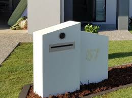 double mailbox designs. E35 Double Mailbox With Angle Designs