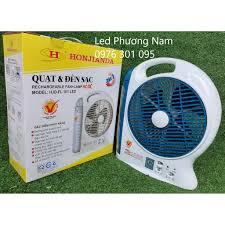Giá bán Quạt sạc tích điện chạy bình acquy Honjianda - QUẠT VÀ ĐÈN SẠC HJD  - FL 301 LED