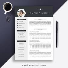 Best Resume Template 2019 Cover Letter Office Word Resume Cv Template Editable Resume Simple Professional Resume Instant Download Amanda M