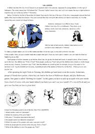 Halloween Comprehension Worksheets Free Worksheets Library ...
