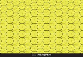 Pattern Background Vector Gorgeous Yellow Hexagon Pattern Background Vector Download