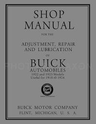1918 1924 buick repair shop manual reprint all models 1924 Buick Starter Wiring Diagram 1918 1924 buick shop manual reprint all models Buick Century Wiring-Diagram