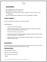 Mba Internship Resume Sample Mba Resume Template Resume Examples