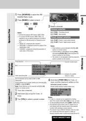 panasonic cq c7105u radio operating instructions