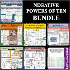 Negative Powers Of Ten Exponents Bundle Differentiated