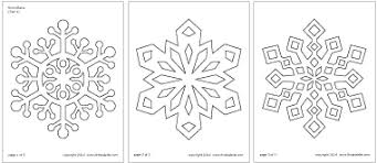 Snowflake Template Clipart