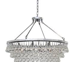 celeste glass drop crystal chandelier chrome