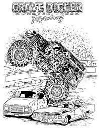 Small Picture Monster Truck Grave Digger Monster Truck Coloring Page Grave