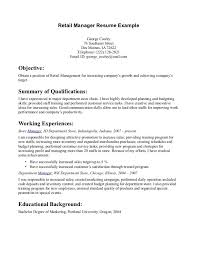 Resume Examples For Retail Job - Tier.brianhenry.co