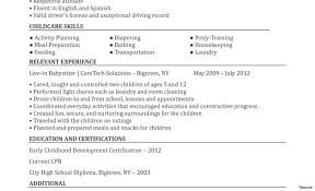 Babysitting Resume Examples Objective For Sample Nanny Resume Examples Babysitting Example 34
