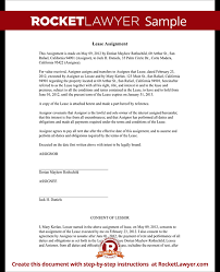 Lease Application Classy Assignment Of Lease Form Lease Agreement Assignment With Sample