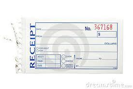 receipt blank receipt