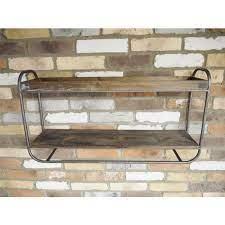wall mounted wooden shelf unit