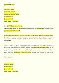 Resignation Letter Format - IndiaFilings - Document Center